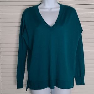 J Crew merino wool v neck boyfriend sweater XS
